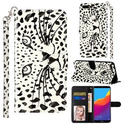 Leopard Panther 3D Leather Phone Holster Wallet Case for Huawei Honor 7C