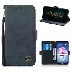 625f1cc2db11bf Retro Classic Leather Phone Wallet Case Cover for Huawei Honor 7s - Black