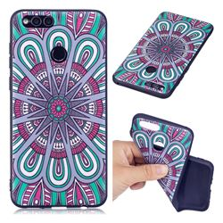 Mandala 3D Embossed Relief Black Soft Back Cover for Huawei Honor 7X