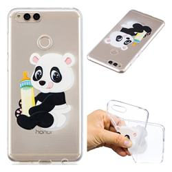 Baby Panda Super Clear Soft TPU Back Cover for Huawei Honor 7X