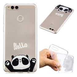 Hello Panda Super Clear Soft TPU Back Cover for Huawei Honor 7X