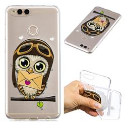 Envelope Owl Super Clear Soft TPU Back Cover for Huawei Honor 7X