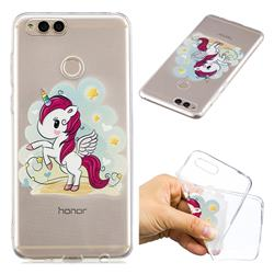 Cloud Star Unicorn Super Clear Soft TPU Back Cover for Huawei Honor 7X