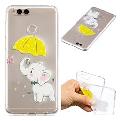 Umbrella Elephant Super Clear Soft TPU Back Cover for Huawei Honor 7X