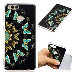 Circle Butterflies Super Clear Soft TPU Back Cover for Huawei Honor 7X