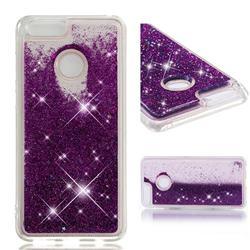 Dynamic Liquid Glitter Quicksand Sequins TPU Phone Case for Huawei Honor 7X - Purple
