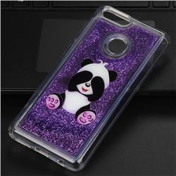 Naughty Panda Glassy Glitter Quicksand Dynamic Liquid Soft Phone Case for Huawei Honor 7X