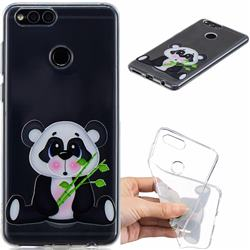 Bamboo Panda Clear Varnish Soft Phone Back Cover for Huawei Honor 7X