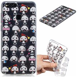 Mini Panda Clear Varnish Soft Phone Back Cover for Huawei Honor 7X