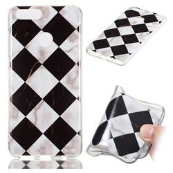 Black and White Matching Soft TPU Marble Pattern Phone Case for Huawei Honor 7X