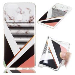 Pinstripe Soft TPU Marble Pattern Phone Case for Huawei Honor 7X