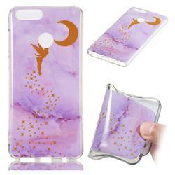 Elf Purple Soft TPU Marble Pattern Phone Case for Huawei Honor 7X