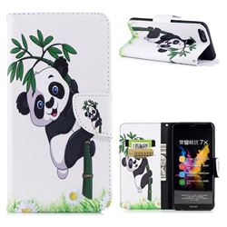 Bamboo Panda Leather Wallet Case for Huawei Honor 7X