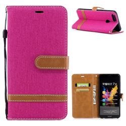 Jeans Cowboy Denim Leather Wallet Case for Huawei Honor 7X - Rose