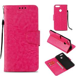 Retro Phantom Smooth PU Leather Wallet Holster Case for Huawei Honor 7X - Rose