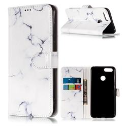 Soft White Marble PU Leather Wallet Case for Huawei Honor 7X