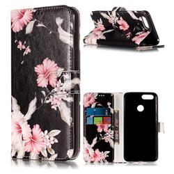 Azalea Flower PU Leather Wallet Case for Huawei Honor 7X