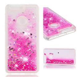 Dynamic Liquid Glitter Quicksand Sequins TPU Phone Case for Huawei Honor 8 - Rose
