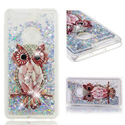 Seashell Owl Dynamic Liquid Glitter Quicksand Soft TPU Case for Huawei Honor 8