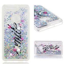 Smile Flower Dynamic Liquid Glitter Quicksand Soft TPU Case for Huawei Honor 8