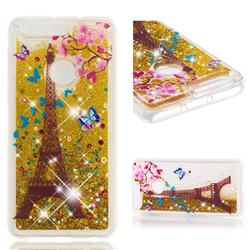 Golden Tower Dynamic Liquid Glitter Quicksand Soft TPU Case for Huawei Honor 8