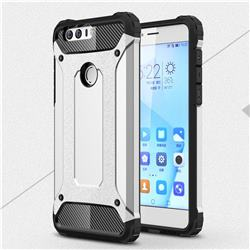 King Kong Armor Premium Shockproof Dual Layer Rugged Hard Cover for Huawei Honor 8 - Technology Silver