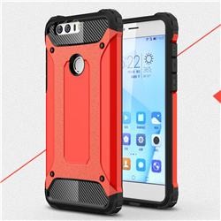 King Kong Armor Premium Shockproof Dual Layer Rugged Hard Cover for Huawei Honor 8 - Big Red