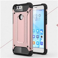 King Kong Armor Premium Shockproof Dual Layer Rugged Hard Cover for Huawei Honor 8 - Rose Gold