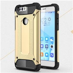 King Kong Armor Premium Shockproof Dual Layer Rugged Hard Cover for Huawei Honor 8 - Champagne Gold