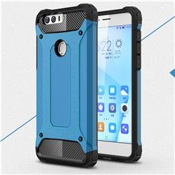 King Kong Armor Premium Shockproof Dual Layer Rugged Hard Cover for Huawei Honor 8 - Sky Blue