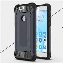 King Kong Armor Premium Shockproof Dual Layer Rugged Hard Cover for Huawei Honor 8 - Navy