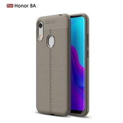 Luxury Auto Focus Litchi Texture Silicone TPU Back Cover for Huawei Honor 8A - Gray