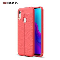 Luxury Auto Focus Litchi Texture Silicone TPU Back Cover for Huawei Honor 8A - Red