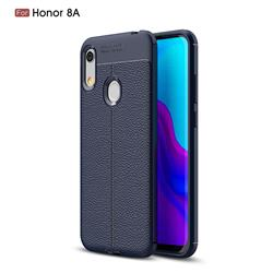 Luxury Auto Focus Litchi Texture Silicone TPU Back Cover for Huawei Honor 8A - Dark Blue