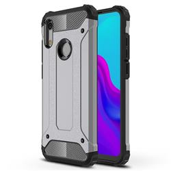 King Kong Armor Premium Shockproof Dual Layer Rugged Hard Cover for Huawei Honor 8A - Silver Grey
