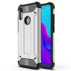 King Kong Armor Premium Shockproof Dual Layer Rugged Hard Cover for Huawei Honor 8A - Technology Silver