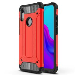 King Kong Armor Premium Shockproof Dual Layer Rugged Hard Cover for Huawei Honor 8A - Big Red