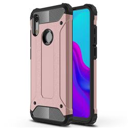 King Kong Armor Premium Shockproof Dual Layer Rugged Hard Cover for Huawei Honor 8A - Rose Gold
