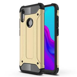 King Kong Armor Premium Shockproof Dual Layer Rugged Hard Cover for Huawei Honor 8A - Champagne Gold