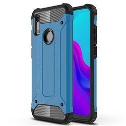 King Kong Armor Premium Shockproof Dual Layer Rugged Hard Cover for Huawei Honor 8A - Sky Blue