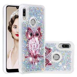 Seashell Owl Dynamic Liquid Glitter Quicksand Soft TPU Case for Huawei Honor 8A