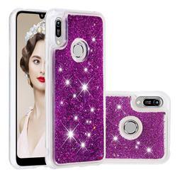 Dynamic Liquid Glitter Quicksand Sequins TPU Phone Case for Huawei Honor 8A - Purple