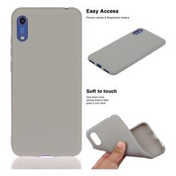 Soft Matte Silicone Phone Cover for Huawei Honor 8A - Gray