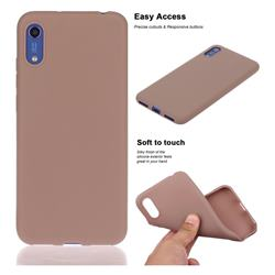 Soft Matte Silicone Phone Cover for Huawei Honor 8A - Khaki