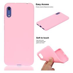 Soft Matte Silicone Phone Cover for Huawei Honor 8A - Rose Red