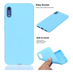 Soft Matte Silicone Phone Cover for Huawei Honor 8A - Sky Blue