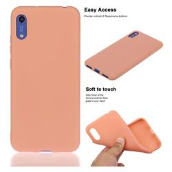 Soft Matte Silicone Phone Cover for Huawei Honor 8A - Coral Orange