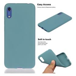 Soft Matte Silicone Phone Cover for Huawei Honor 8A - Lake Blue