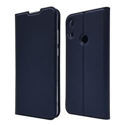Ultra Slim Card Magnetic Automatic Suction Leather Wallet Case for Huawei Honor 8A - Royal Blue