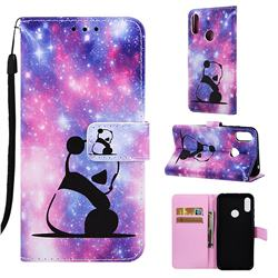 Panda Baby Matte Leather Wallet Phone Case for Huawei Honor 8A